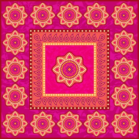 sari: Ethnic ornament in indian style