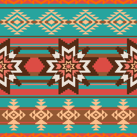american indian aztec: Ethnic ornament seamless pattern