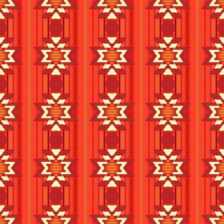borders abstract: Ethnic ornamental pattern in red Illustration