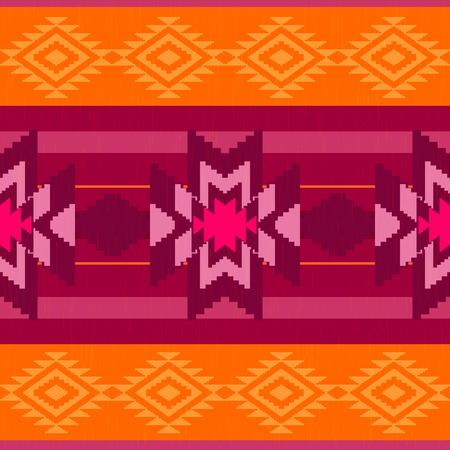 folk: Folk ornamental textile pattern Illustration