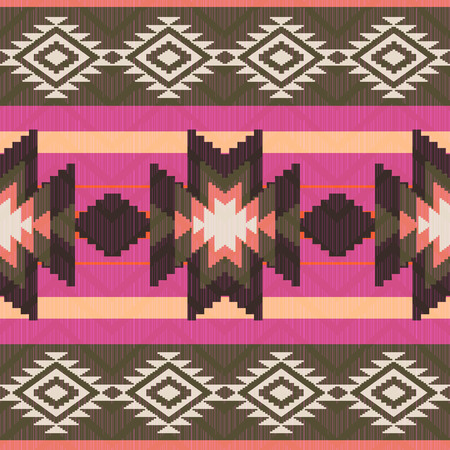Ethnic seamless pattern native american ornamental style