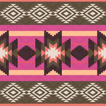 Ethnic seamless pattern native american ornamental style