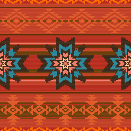 ecuador: Traditional textile seamless pattern background in ethnic style
