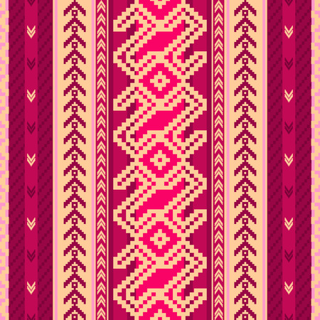 ecuador: Ethnic fabric seamless pattern