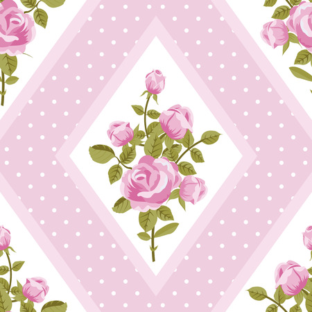 walpaper: Seamless walpaper with pink roses