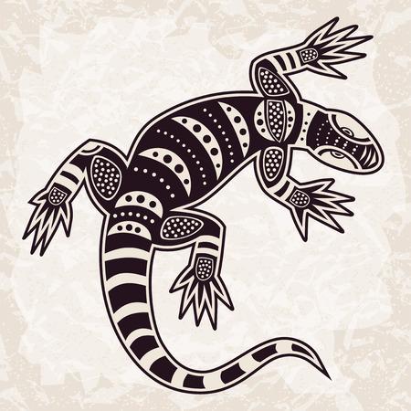 Modelo étnico lagarto decorativo