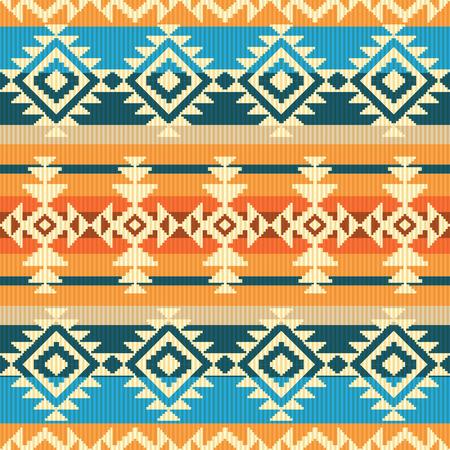 ナバホ スタイルの幾何学的なシームレス パターン  イラスト・ベクター素材