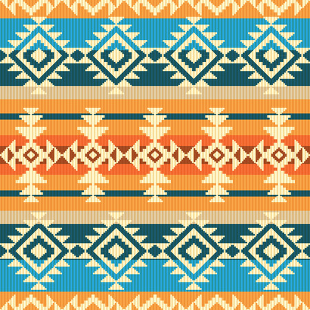Navajo style geometric seamless pattern Vettoriali