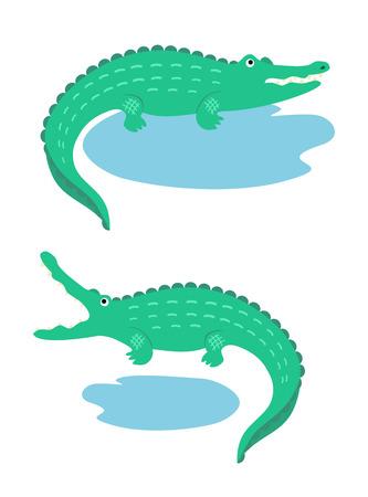 dryness: Two cartoon crocodiles