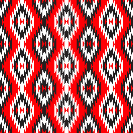 black and red: Adstract ethnic geometric pattern