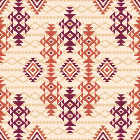 tribal: Seamless geometric tribal pattern