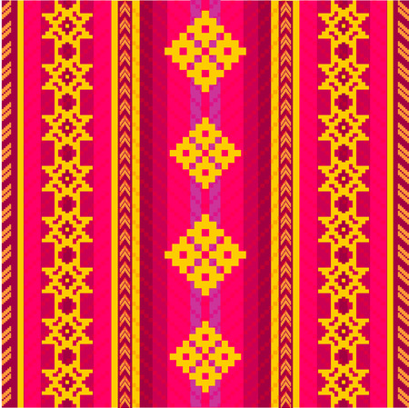 ecuador: South American ethnic style seamless pattern Illustration