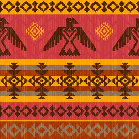 Eagles etnische stijl naadloze patroon op stammen inheemse Amerikaanse stijl