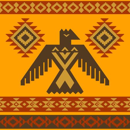 halcones: Tribal americana águila ilustración vectorial ornamentales nativas