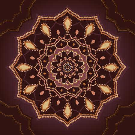 ethic: Ornamental mandala ethic pattern round ornament