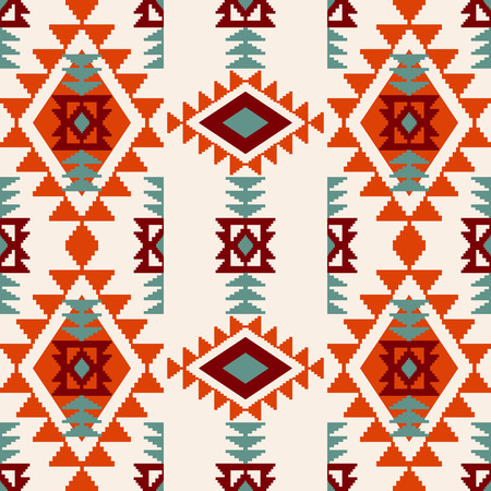 Trendy navajo ethnic tribal ornament, abstract vector seamless pattern