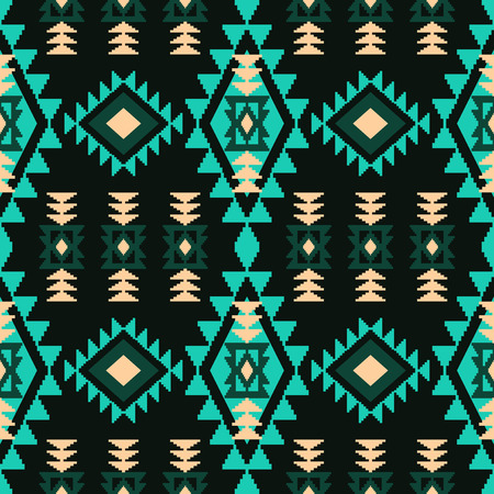 Tribal aztec geometric pattern in ethnic style. Tiled abstract rhombus background for your design.