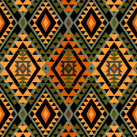 Geometric textile seamless pattern in ethnic style