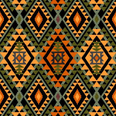 textil: Textiles geométrica perfecta en estilo étnico Vectores