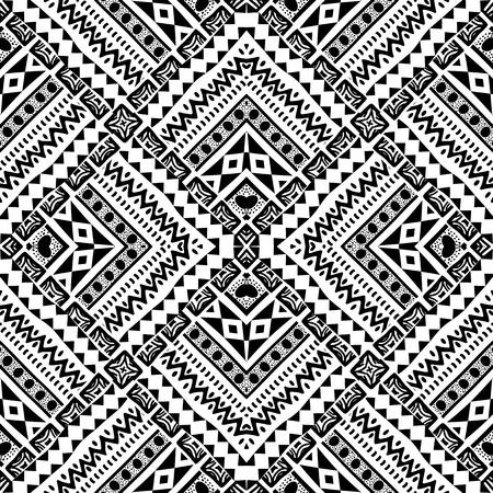 negras africanas: Resumen elaborado a mano patrón geométrico en el estilo tribal