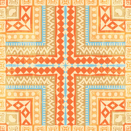 african: Colorful abstract ethnic seamless pattern Illustration