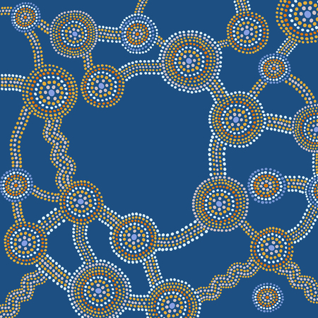 Tribal backround in australian aborigines style Иллюстрация