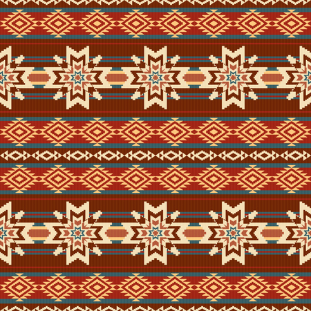 woven: Absract ethnic textil pattern with stars
