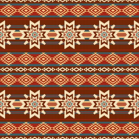 Motif de textil ethnique Absract avec des étoiles