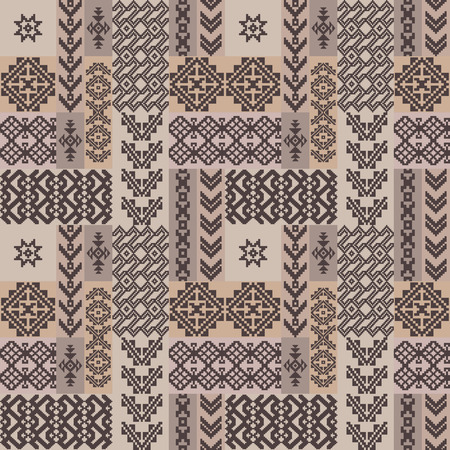 borders abstract: Abstract ornamental ethnic seamless pattern