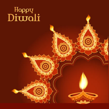 Indian festival Diwali vector background Illustration