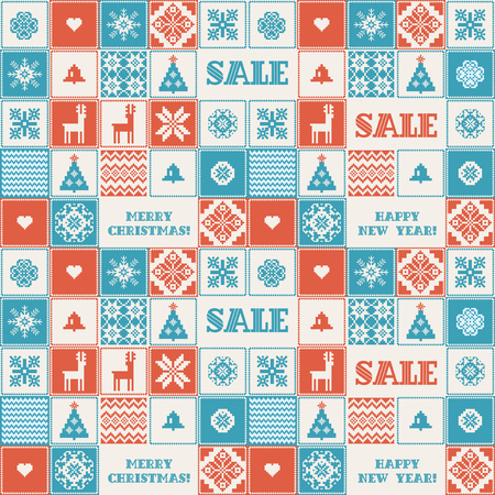 crocheted: Winter sale seamless background