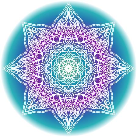 mandala: Mandala lace decorative ornament.