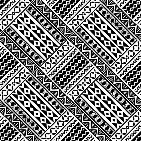 Tribal geometric abstract seamless pattern