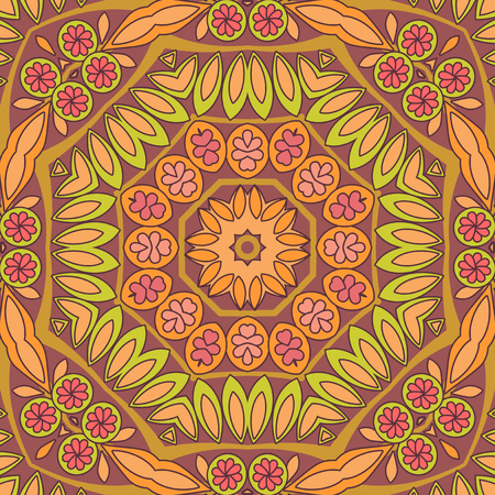 absract: Absract ethnic floral seamless pattern Illustration