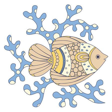 coral fish: Coral fish illustration