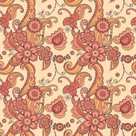 Tela floral sin patrón Ilustración de vector