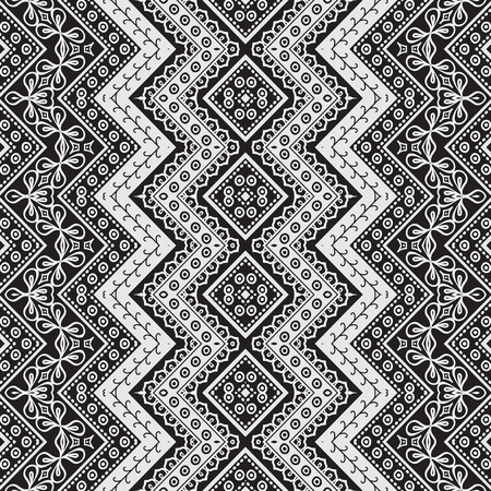 black and white: abstract seamless pattern in black and white Illustration