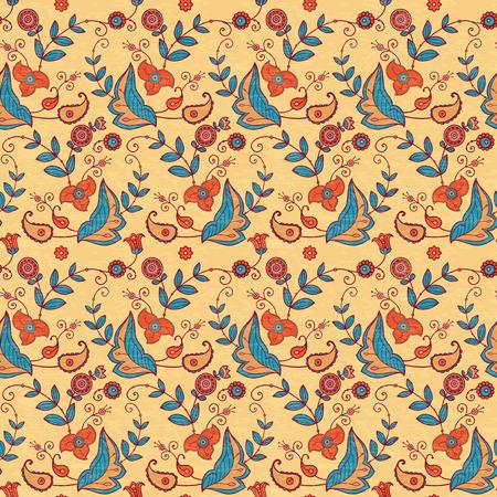 vintage pattern: Vintage floral seamless pattern