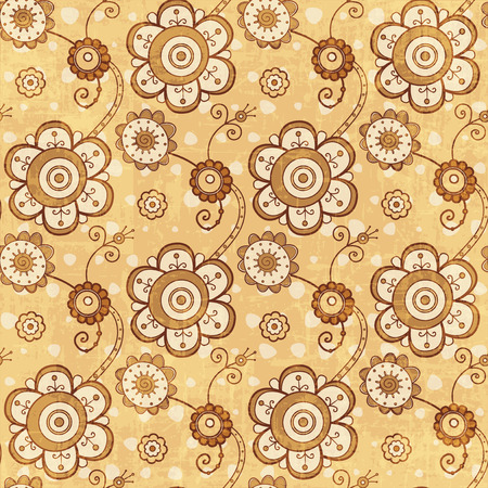 gold textured background: Vintage gold flowers textured seamless background