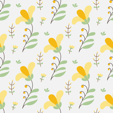 simple background: Yellow flowers simple seamless background Illustration