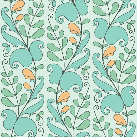 garden peas: Abstract floral seamless vector pattern