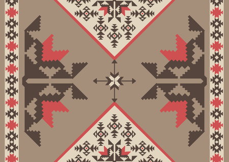 Abstract tribal ornamental background, navajo style design