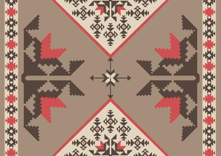 Fondo ornamental tribal abstracto, diseño del estilo navajo Ilustración de vector