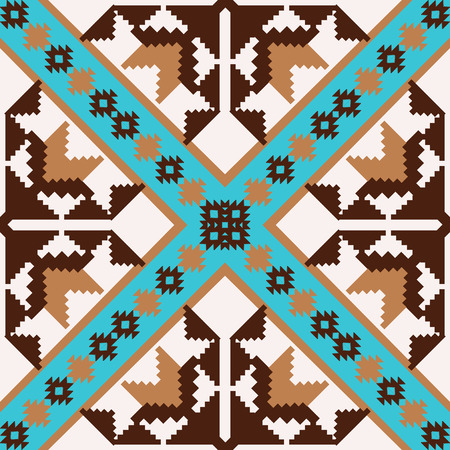 Abstract geometric pattern in ethnic style