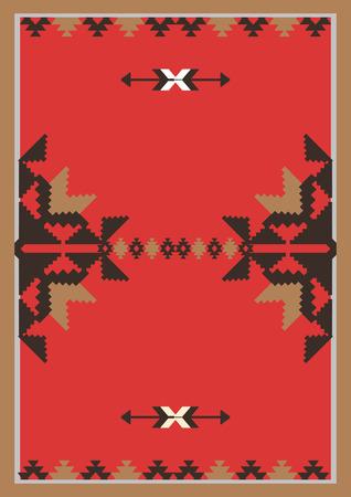 indische muster: Abstrakt ethnischen Hintergrund. Vorlage für das Design