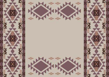 style geometric: Geometric background in aztec style