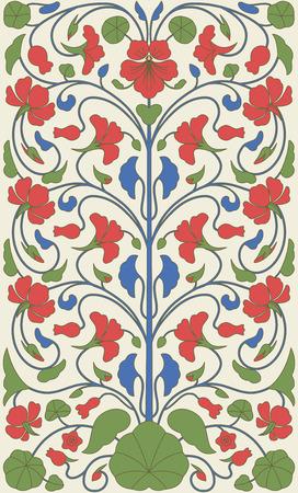 indische muster: Ostern Vintage-Stil floral ornamentale Muster. Vorlage für das Design