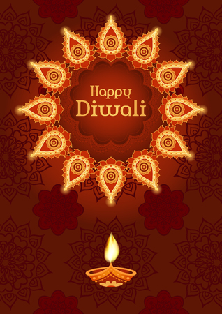 Diwali festival template for greeting card poster design royalty 63424593 traditional indian festivale diwali template for greeting card poster design m4hsunfo