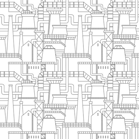 city background: Industrial city background, seamless pattern Illustration