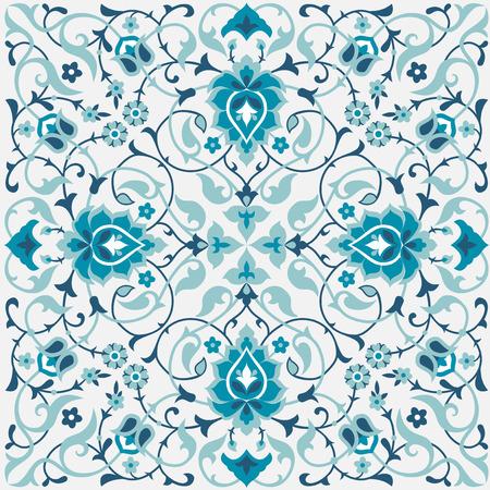 Traditional arabic floral design. Islamic, Ottoman, Turkish seamless pattern Illustration